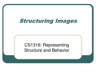 Structuring Images