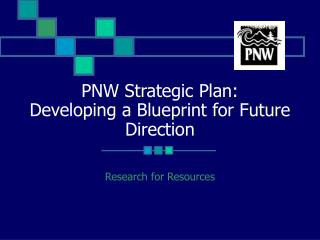 PNW Strategic Plan:  Developing a Blueprint for Future Direction