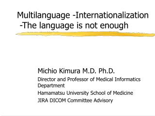 Multilanguage -Internationalization  -The language is not enough