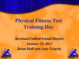 Physical Fitness Test Training Day