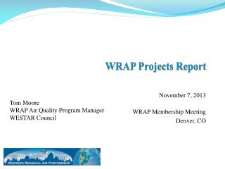 WRAP Projects Report