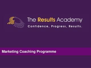 Marketing Plan Coaching Programme