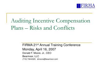 Auditing Incentive Compensation Plans – Risks and Conflicts