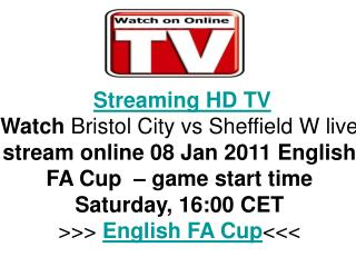 Bristol City vs Sheffield W FA CUP Direct TV Streaming