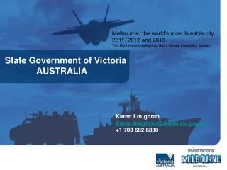 State Government of Victoria              AUSTRALIA