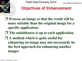 Objectives of Enhancement