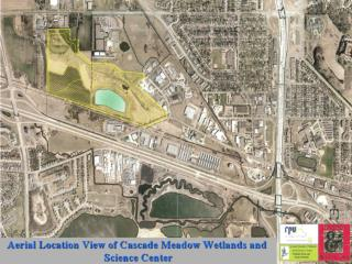 Aerial Map of Cascade Meadow Wetlands and Data Collecting Sites