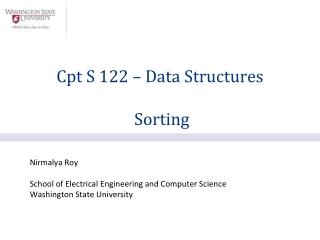 Nirmalya Roy School of Electrical Engineering and Computer Science Washington State University