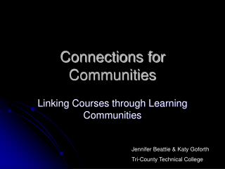 Connections for Communities
