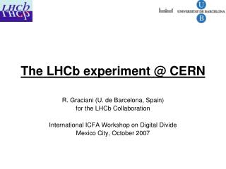 The LHCb experiment @ CERN
