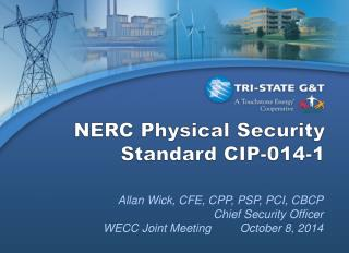 NERC Physical Security Standard CIP-014-1