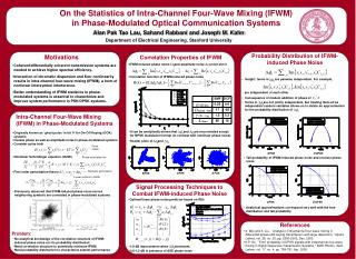 On the Statistics of Intra-Channel Four-Wave Mixing (IFWM)