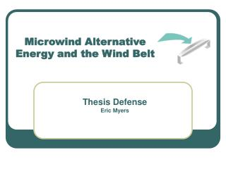 Microwind Alternative Energy and the Wind Belt