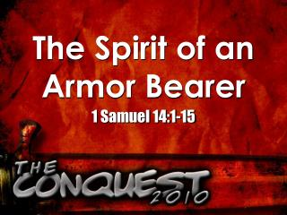 The Spirit of an Armor Bearer