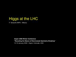 Higgs at the LHC