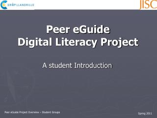 Peer eGuide Project Overview – Student Groups