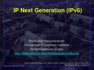 IP Next Generation (IPv6)