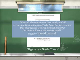 """ Hypodermic Needle Theory """