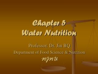 Chapter 5   Water Nutrition