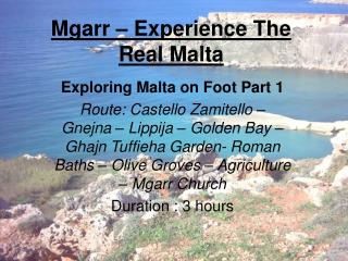 Mgarr   Experience The Real Malta