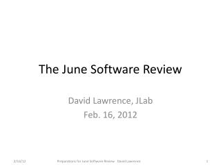 The June Software Review