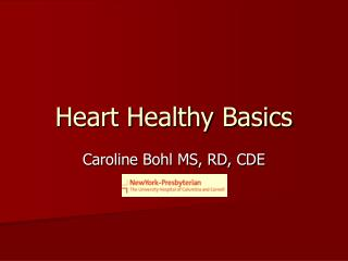 Heart Healthy Basics