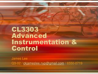 CL3303 Advanced Instrumentation & Control