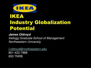 IKEA  Industry Globalization Potential