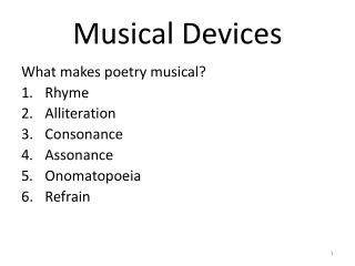 Musical Devices