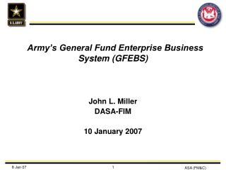 Army's General Fund Enterprise Business System (GFEBS)