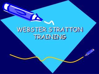 WEBSTER STRATTON TRAINING
