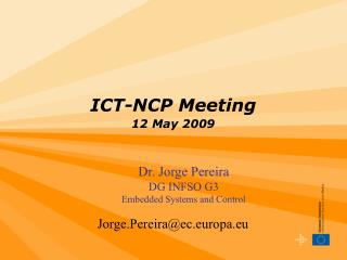 ICT-NCP Meeting 12 May 2009