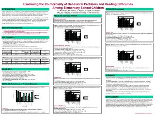 Examining the Co-morbidity of Behavioral Problems and Reading Difficulties  Among Elementary School Children   A. Wechsl
