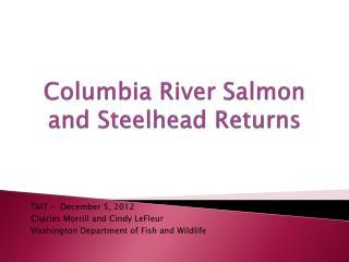 Columbia River Salmon and Steelhead Returns