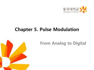 Chapter  5. Pulse Modulation