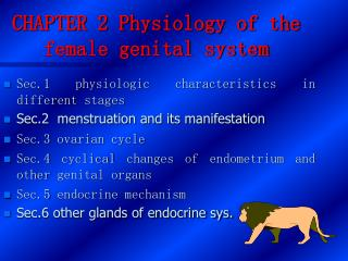 CHAPTER 2 Physiology of the female genital system