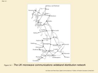 Figure 14.1  The UK microwave communications wideband distribution network