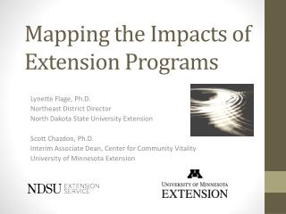 Mapping the Impacts of Extension Programs