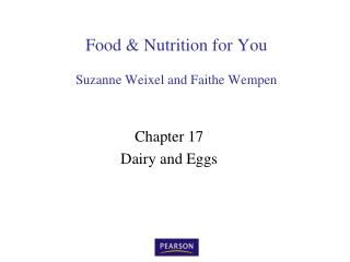 Food & Nutrition for You Suzanne Weixel and Faithe Wempen