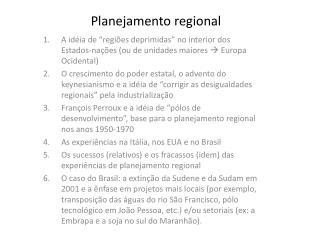 Planejamento regional