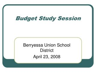 Budget Study Session