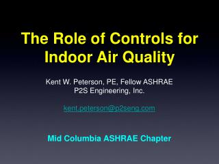The Role of Controls for Indoor Air Quality