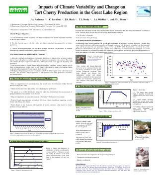 Impacts of Climate Variability and Change on     Tart Cherry Production in the Great Lake Region