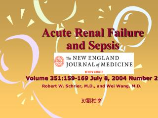 Acute Renal Failure and Sepsis