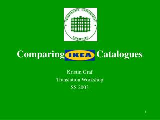 Comparing             Catalogues