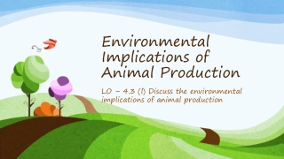 Impact of Livestock on the Environment