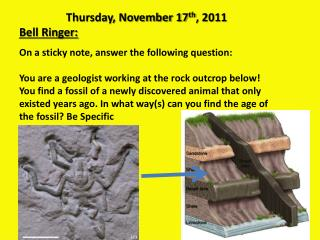 Thursday, November 17 th , 2011 Bell Ringer: On a sticky note, answer the following question: