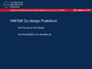 HW/SW Co-design Praktikum