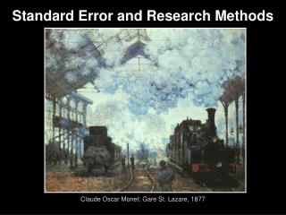 Standard Error and Research Methods