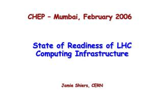CHEP – Mumbai, February 2006